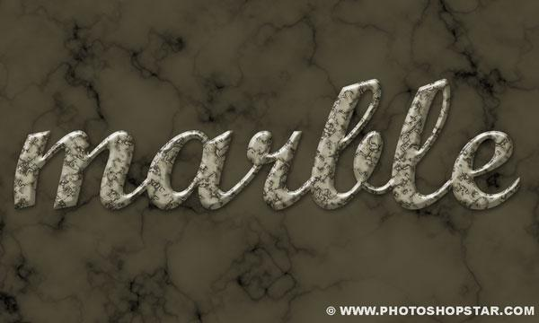 Marble stone text effect in Photoshop