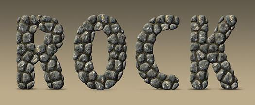 Realistic Rock and Stone Text Effect in Photoshop