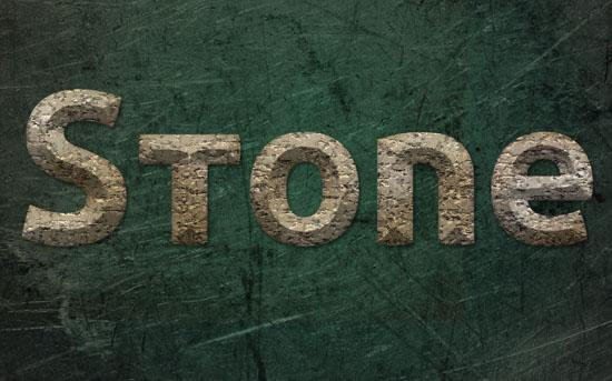 Realistic stone text effect Photoshop tutorial
