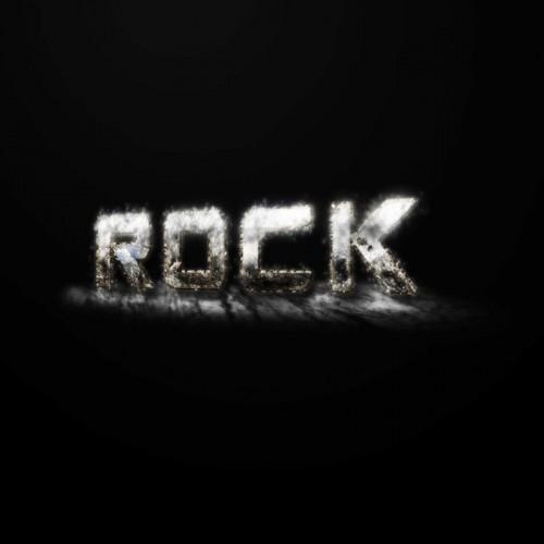 Snowy rock text effect in Photoshop