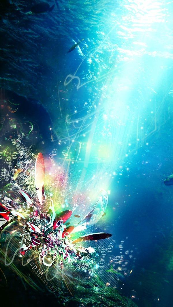 Create underwater abstract artwork in Photoshop