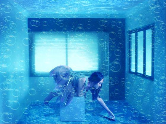 How to create a Under water room in Photoshop