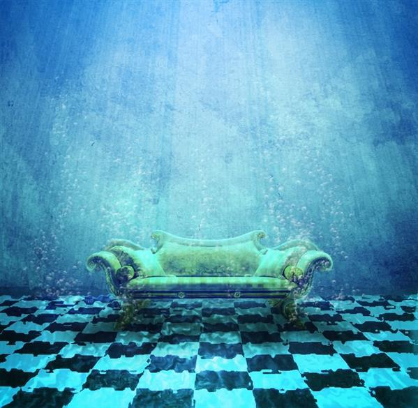 Room Beneath the surface of the water in Photoshop