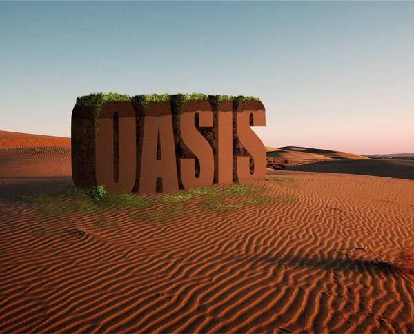 Create a 3D Desert Sand Typography in Photoshop