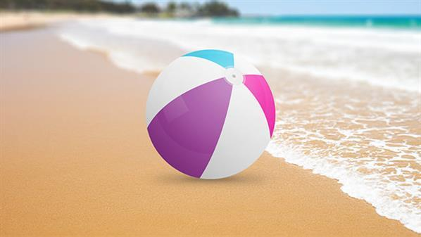 Create a plastic beach ball in photoshop
