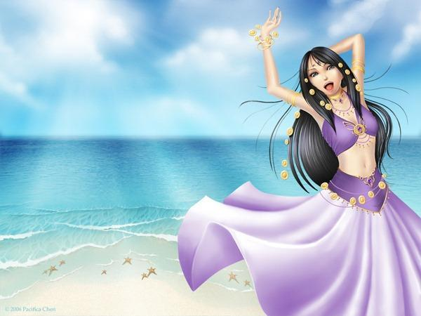 Draw a Girl on a Sandy Beach in Photoshop