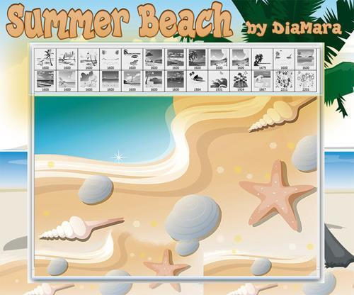 Summer Beach Photoshop Brushes Collection