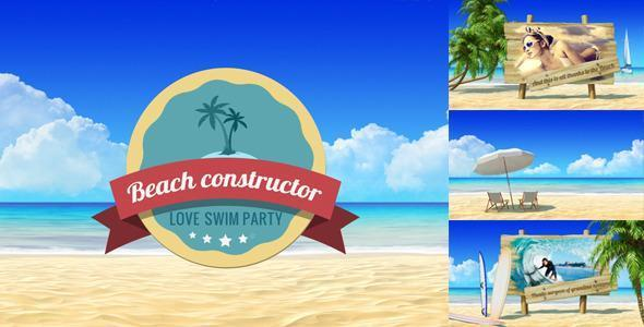 Summer Beach Video Displays for Vacation Travel Theme