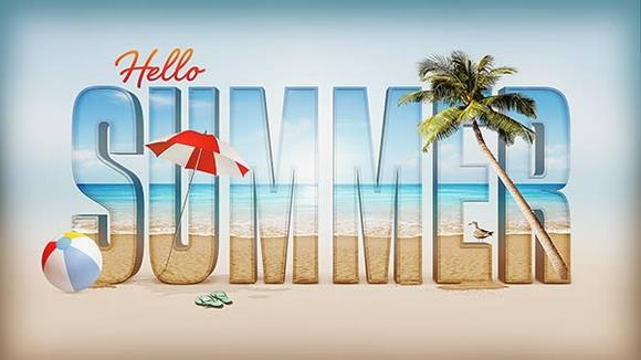 Summer Inspired 3D Text Effect in Photoshop