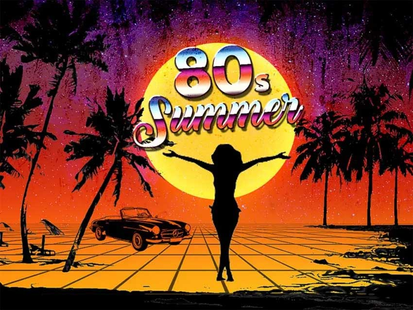 80s Summer Poster in Photoshop