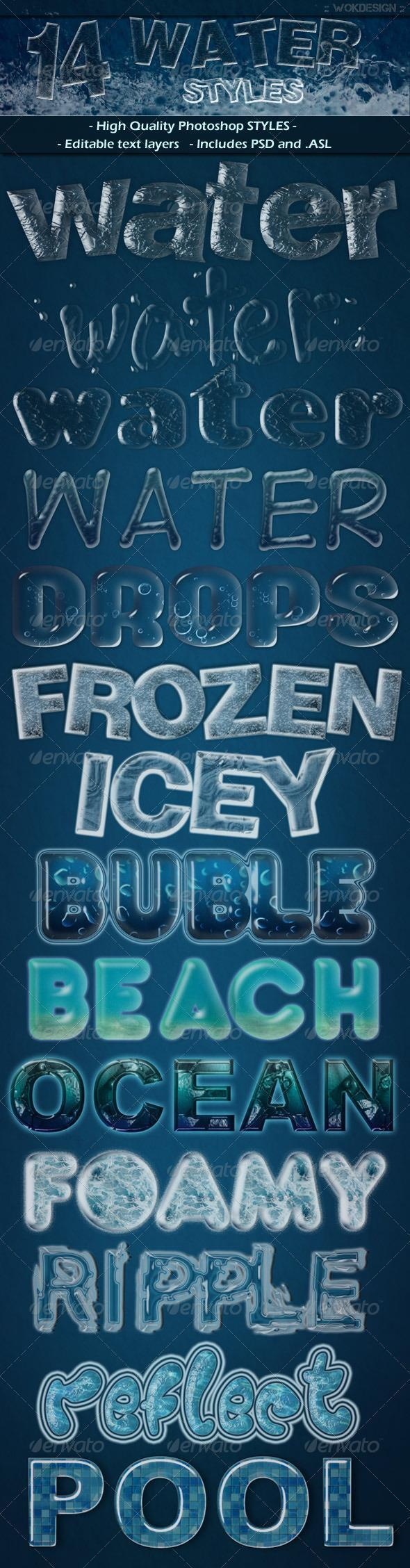 Summer time photoshop tutorials and resources psddude water text styles baditri Choice Image
