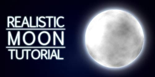 Create a realistic moon in Photoshop
