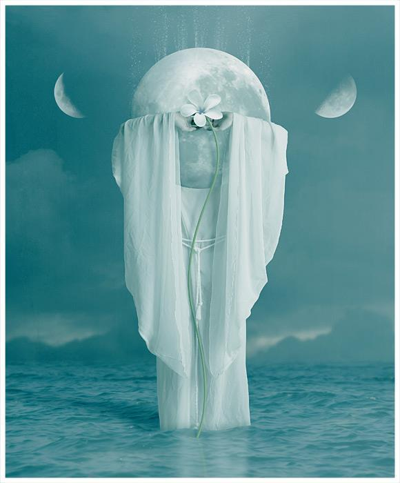 Once In A Blue Moon Photo Manipulation Artwork