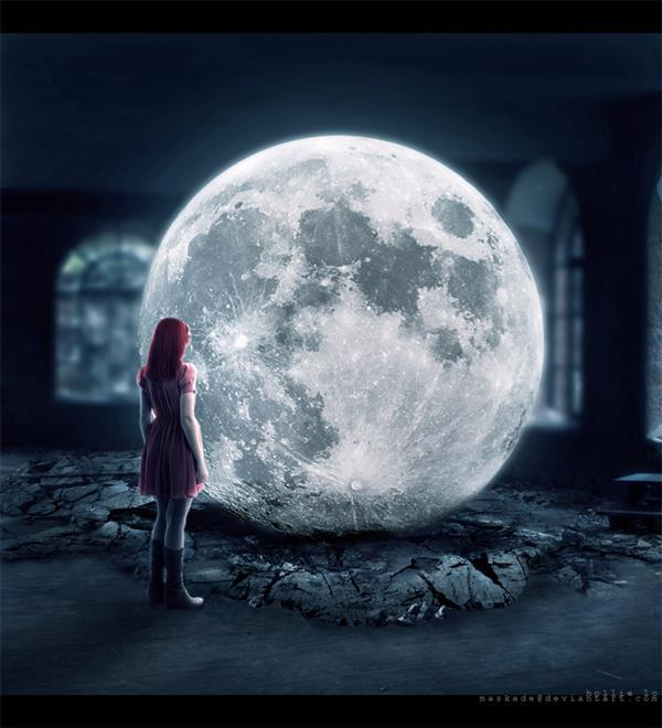 Once in a blue moon Photo Manipulation