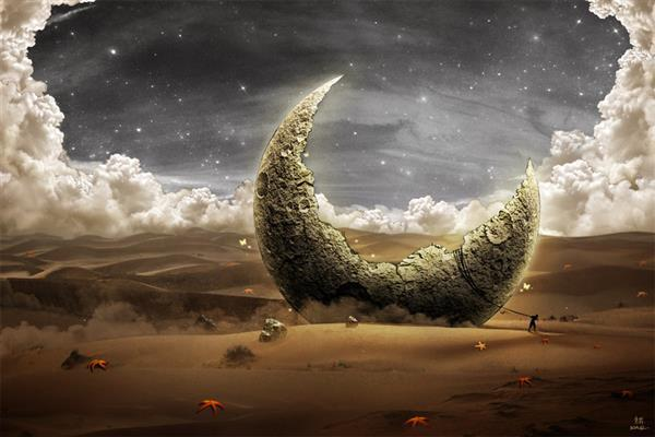 Reach For The Moon Photo Manipulation