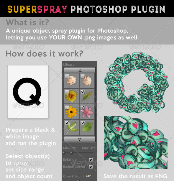 Super Spray Photoshop Plugin for Outline Stroke