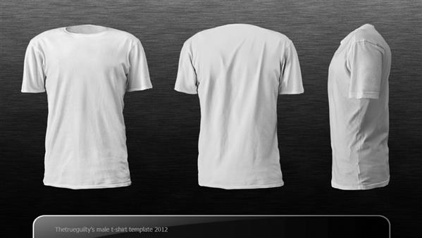 Male Tshirt template by Thetrueguilty photoshop resource collected by psd-dude.com from deviantart