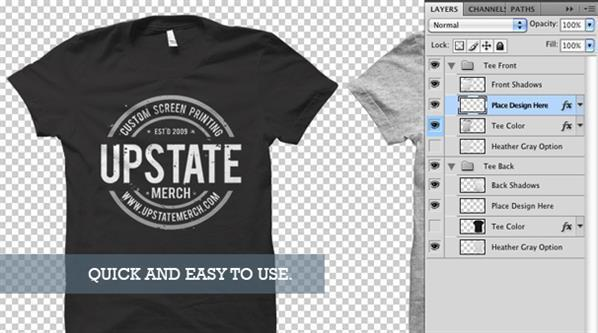T shirt psd mockup templates for designers psddude for T shirt mockup template free download