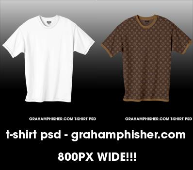 TShirt PSD by GrahamPhisherDotCom photoshop resource collected by psd-dude.com from deviantart