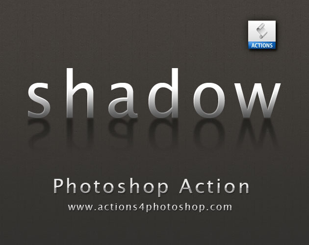 Text Shadow Photoshop Action