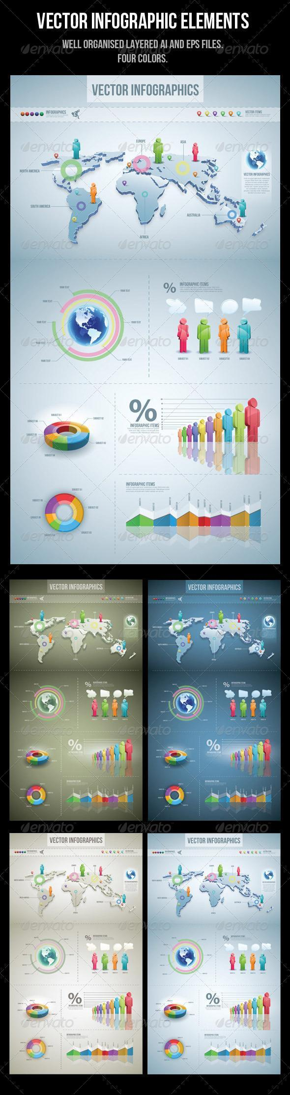 3D Infographic Glossy Style Template