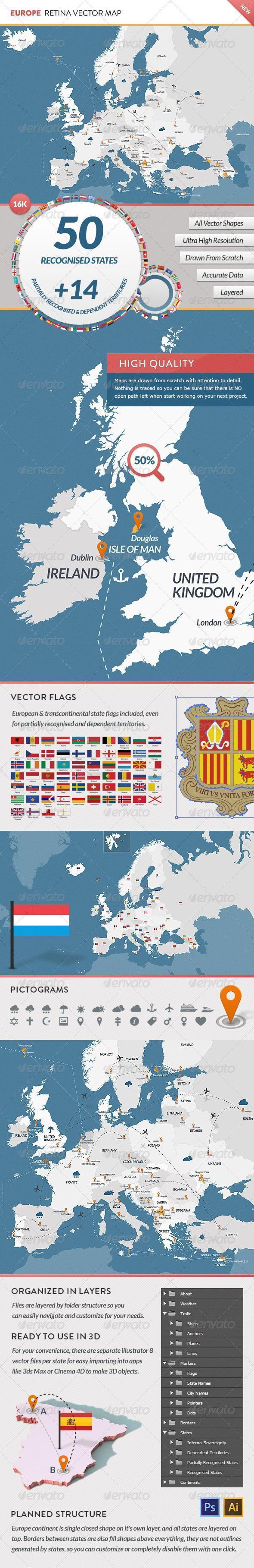 Europe Vector Map Infographic