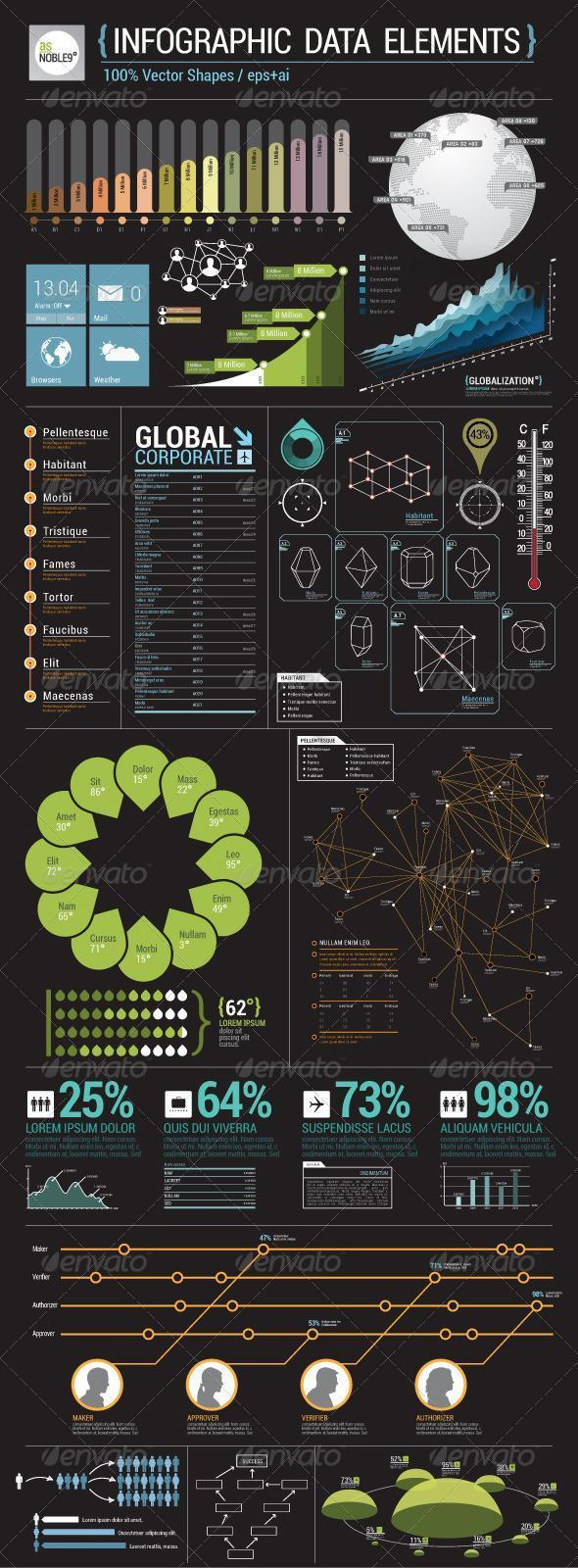 Infographic Data Elements Template