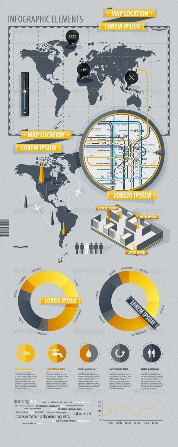 Infographic Design with World Map