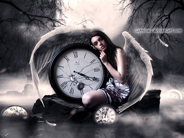 Broken clock wallpaper  Time Inspired Photoshop Manipulations | PSDDude