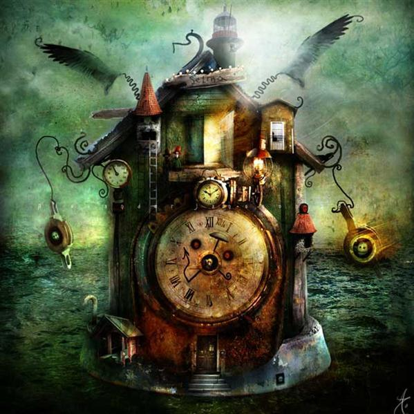 Clock House Photoshop Artwork