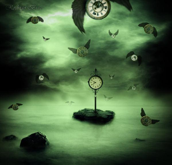 The time flies Photo Manipulation