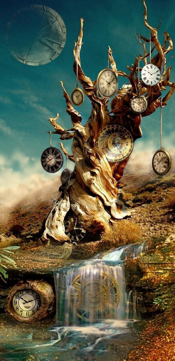 Time flows Photoshop Manipulation
