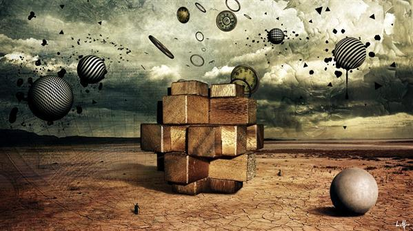 Time Puzzle Photo Manipulation
