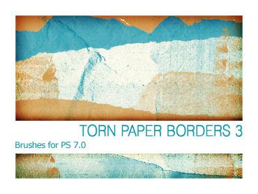 Torn Paper Borders 3 PS 70 by Pfefferminzchen photoshop resource collected by psd-dude.com from deviantart