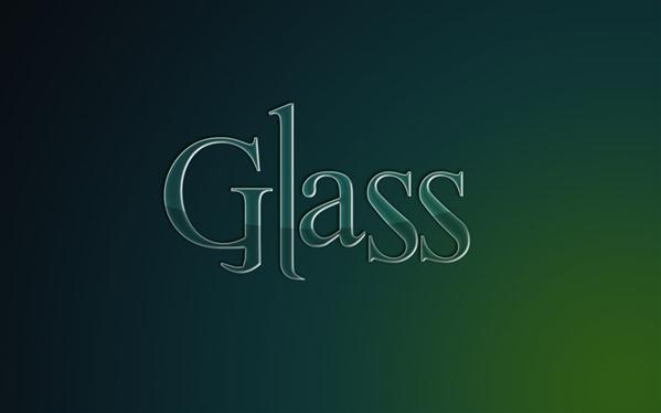 Glass Text Style PSD - Free