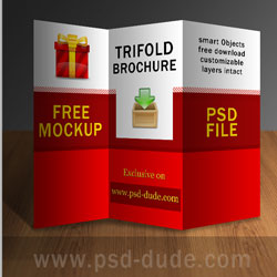 Tri Fold Brochure PSD Free Template psd-dude.com Resources