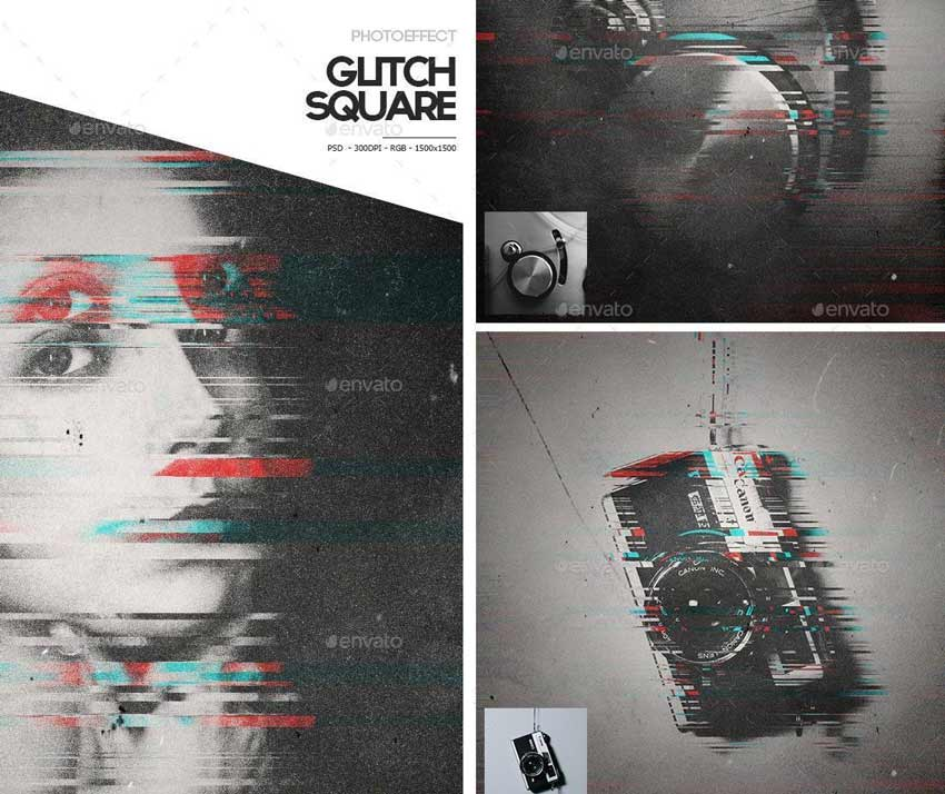 Glitch Photo Effect Photoshop Action