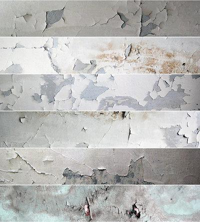 6 Grunge Peeled Paint Industrial Textures
