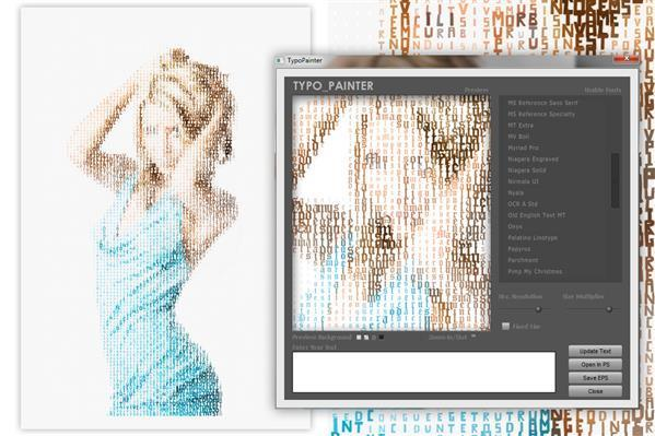 Typo Painter Photoshop Extension