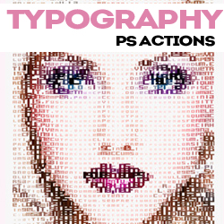Typography Portrait Photoshop Actions and Tutorials psd-dude.com Resources
