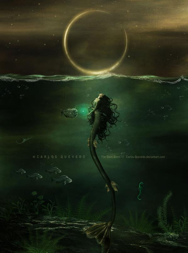 The Dark Siren Underwater Photomanipulation