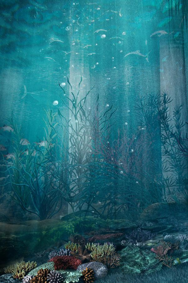Premade Background Under The Sea Photoshop
