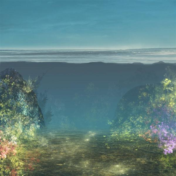 Premade Background Underwater
