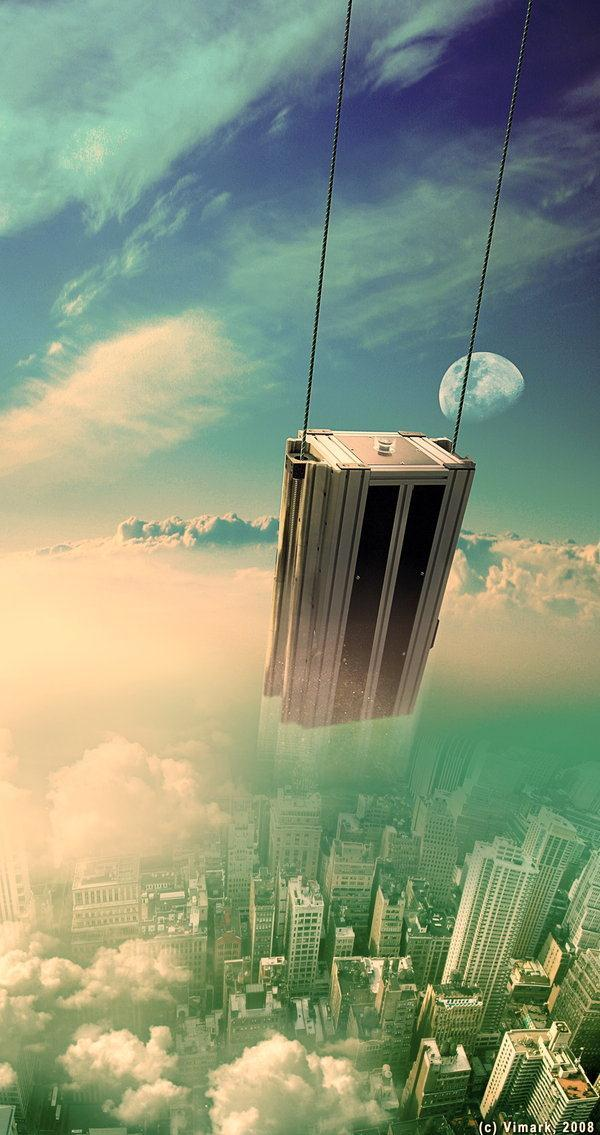 Random Reality SciFi City Photo Manipulation