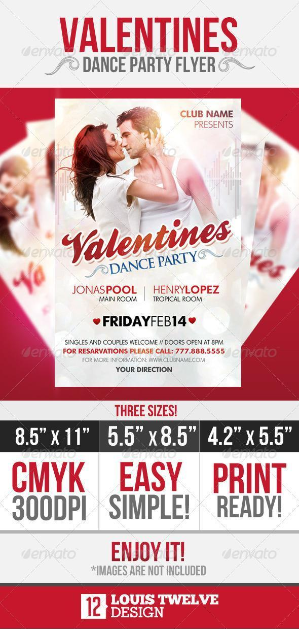 Valentine Dance Party Template PSD File