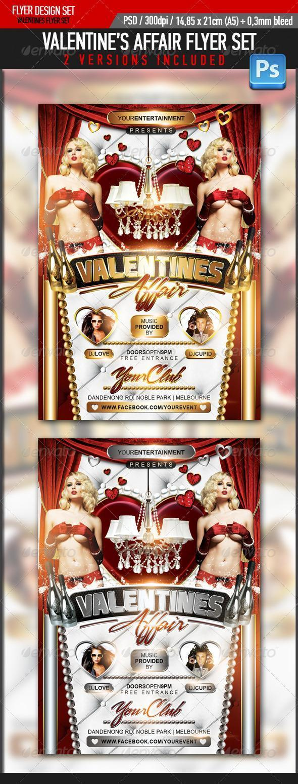 Valentines Affair Golden Template