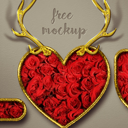 <span class='searchHighlight'>Valentine</span> Photoshop Free Style with Rose Pattern and Gold Border ... psd-dude.com Resources