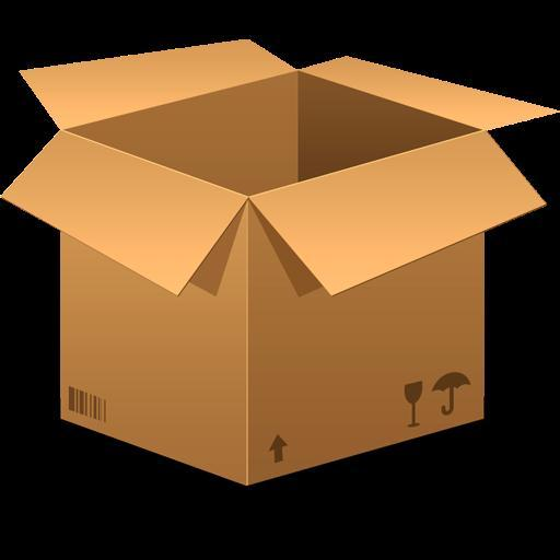 Cardboard Box Icon PSD Free Download