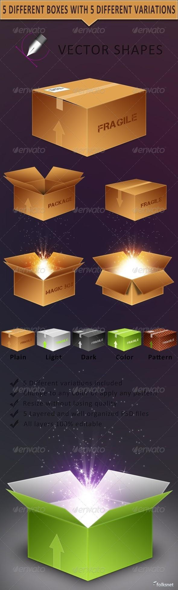 Vector Box with Premium PSD Download