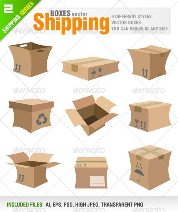 Shipping Box PSD Premium File Download